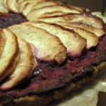 紫芋と紅玉のタルト