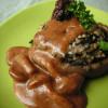 椎茸のお豆腐詰め なめこ×デミソース