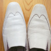 【The way to clean white leather shoes】