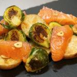 【サーモンの春野菜の前菜】