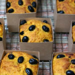 【かぼちゃと黒豆のケーキ】