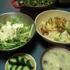 【また緑ばっかりな晩ご飯】