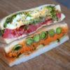 【お野菜をたくさん挟めるサンドイッチ】