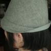 新作の帽子